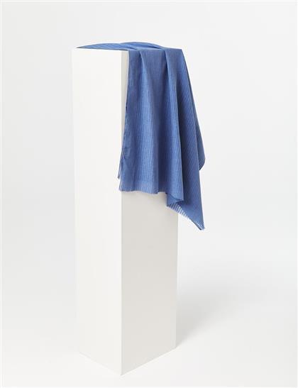 Çizgili Harman Şal Mavi B21 SAL38