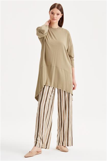 Çizgili Pantolonlu Penye Takım 13818