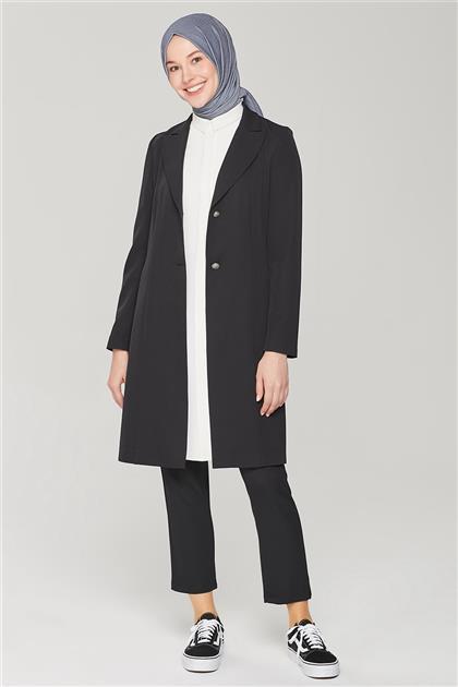 Armine Uzun Ceketli Blazer Takım 21Y6262 Siyah