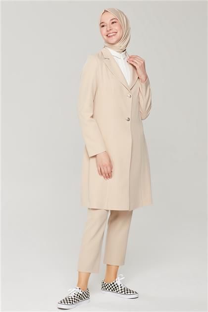 Armine Uzun Ceketli Blazer Takım 21Y6262 Bej