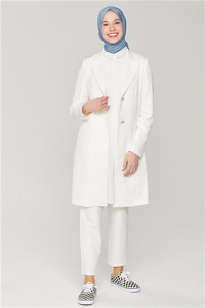 Armine Uzun Ceketli Blazer Takım 21Y6262 Ekru