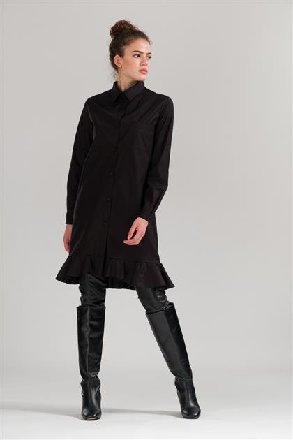 5076 - تنورة قميص أسود