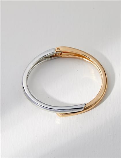 Çift Renkli Bileklik Gold-Nikel B21 BLK02