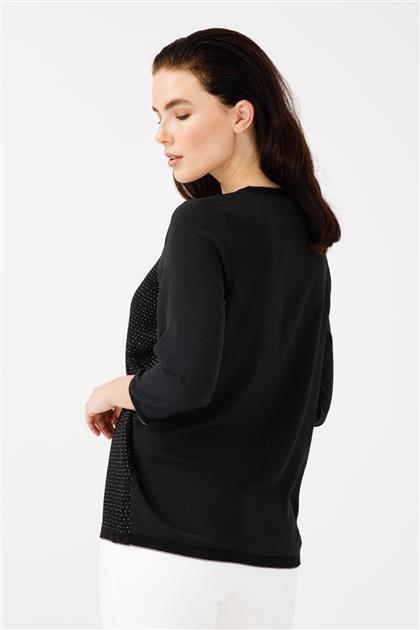 Simli Triko Detaylı Bluz 2812-SGMS
