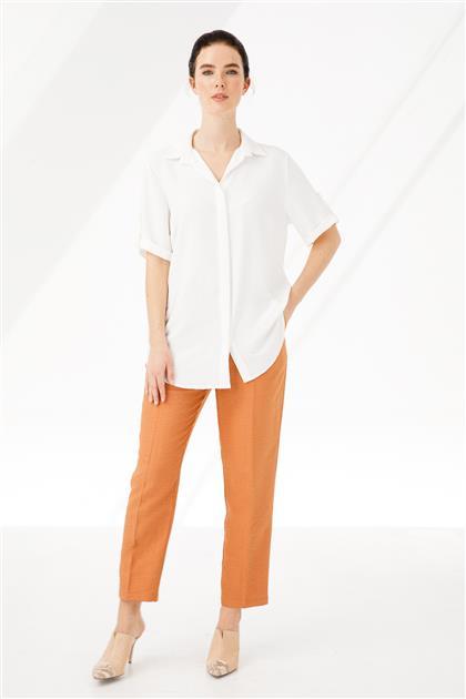 Gizli Patlı Kısa Kollu Gömlek 3879-EK