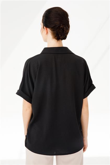 Kısa Kollu Düğmeli Gömlek 3878-SYH