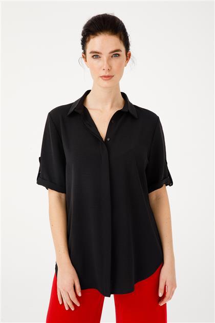 Gizli Patlı Kısa Kollu Gömlek 3879-SYH