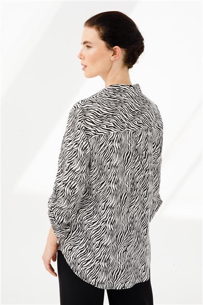 Zebra Desenli Gömlek 3889-SIBE