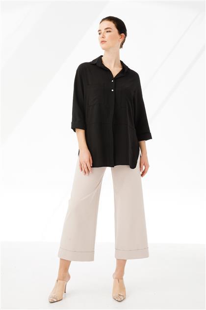 Cep Detaylı Gömlek 3865-SYH