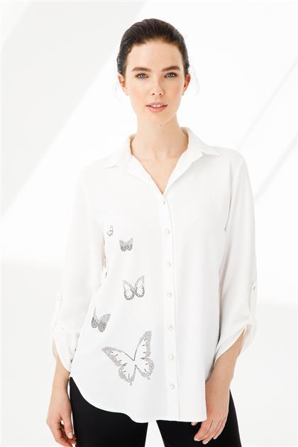 Kelebek Taşlı Gömlek 3853-EK