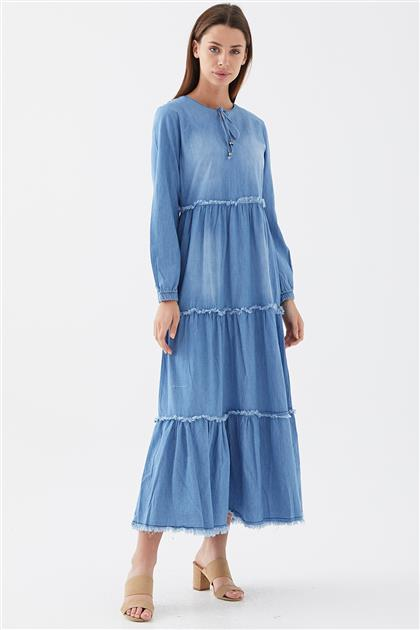 Elbise-Mavi 1111417-70