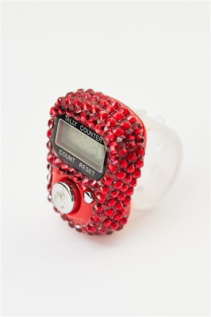 Taşlı Zikirmatik-Kırmızı 0099-34