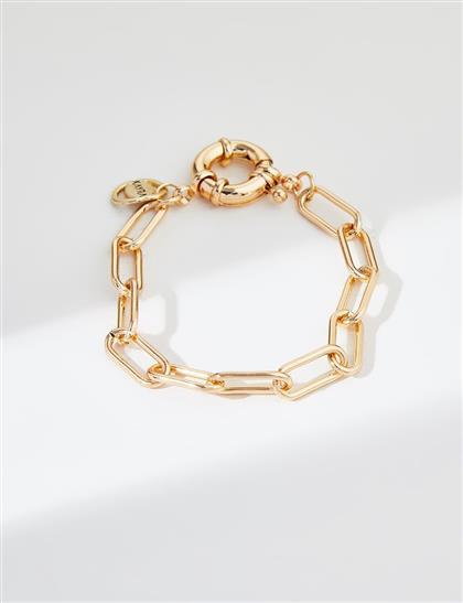 Zincir Bileklik Gold B21 BLK09