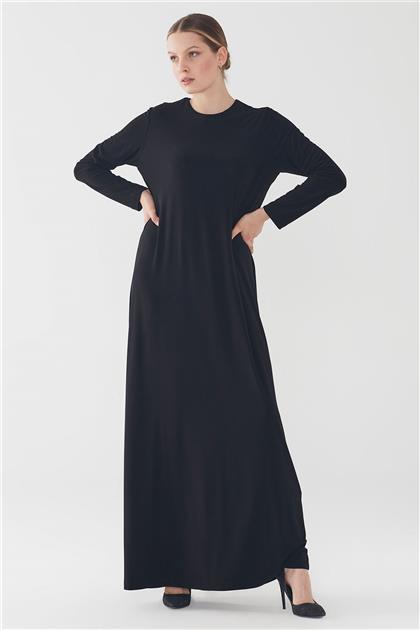 ZÜHRE Basic Uzun Kollu İçlik Siyah Elbise E-0167 Z20YBE-0167ELB1001-R1210