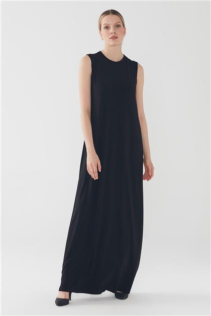 ZÜHRE Basic Sıfır Kollu İçlik Elbise Siyah E-0168 Z20YBE-0168ELB1001-R1210