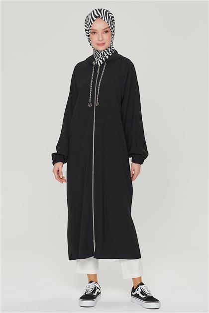 Armine Zincir Detaylı Fermuarlı Spor Giyçık 21Y5310 Siyah