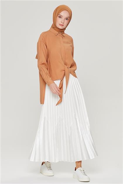 Armine Arka Yıldız Detaylı Bağlamalı Gömlek 21Y3941 Camel
