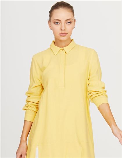 Mini Yırtmaçlı Tunik Sarı B21 21308