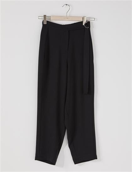 Kuşaklı Harem Pantolon Siyah B21 19066