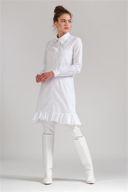 5076 - تنورة قميص أبيض