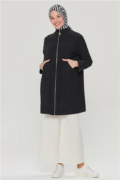 Armine Arka Yıldız Detaylı Fermuarlı Giyçık 21Y5410 Siyah