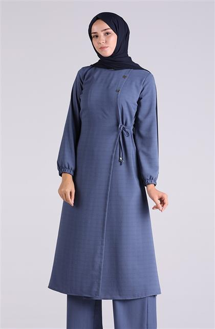 Vivezza Bağlamalı Tunik Pantolon Takım 6858-03 İNDİGO