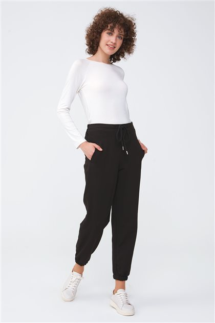 Paçası Lastikli Pantolon-Siyah 2682.SWT.327.1-01