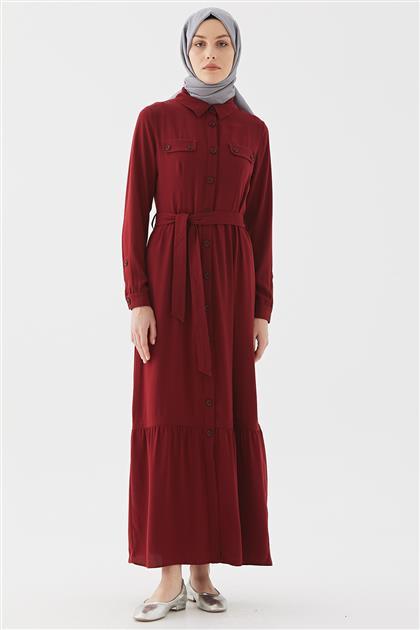 فستان-بوردو DO-B20-63009-26