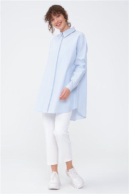 Çizgili Basic Gömlek-Mavi 2662.GML.253.1-70