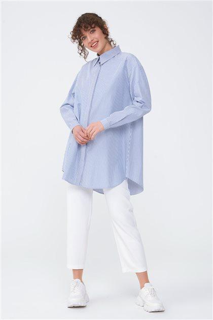 Çizgili Basic Gömlek-Saks 2662.GML.253.1-47