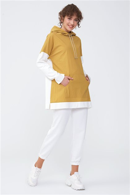 Çift Renkli Sweatshirt-Hardal 2673.SWT.493.1-55
