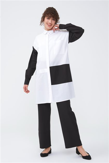 Blok Garnili Gömlek-Siyah 2696.GML.455.1-01