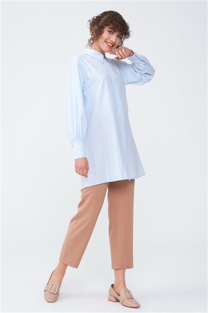 Geniş Manşet Detaylı Gömlek-Bebek Mavisi 2709.GML.351.1-118