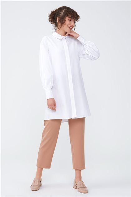 Geniş Manşet Detaylı Gömlek-Ekru 2709.GML.351.1-52
