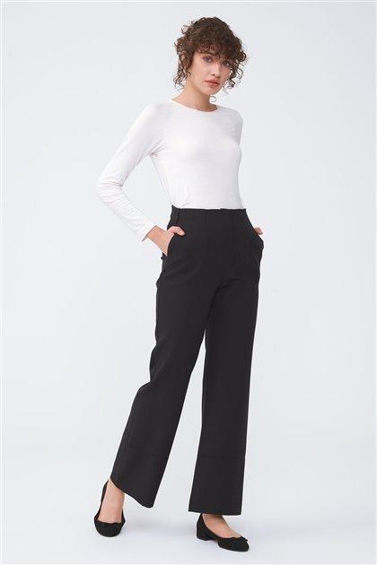 Kemer Detaylı Bol Paça Pantolon-Siyah 2713.PNT.257.1-01