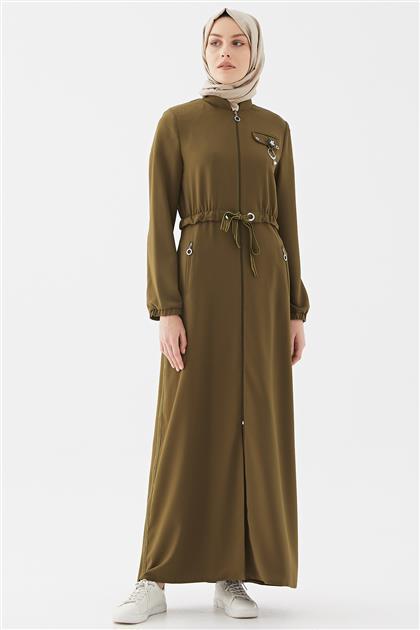 Topcoat-Olive Green M19YPRD86046-08