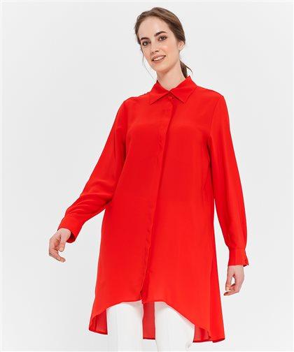 Pile Detaylı Gömlek-Kırmızı 2628.GML.335.1-34