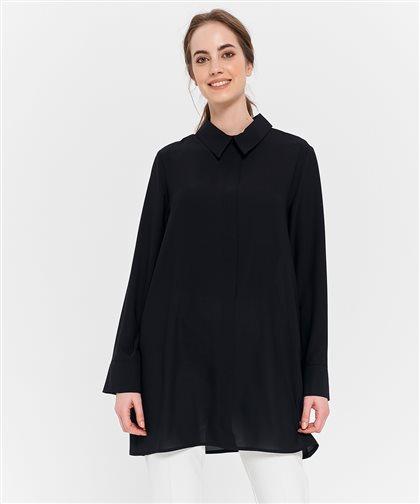 Fermuar Detaylı Tunik-Siyah 2625.TNK.335.1-01