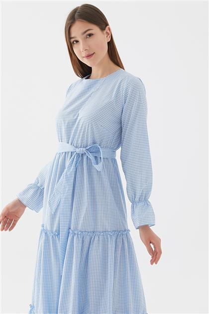 Pötikare Elbise-Açık Mavi 118201-15