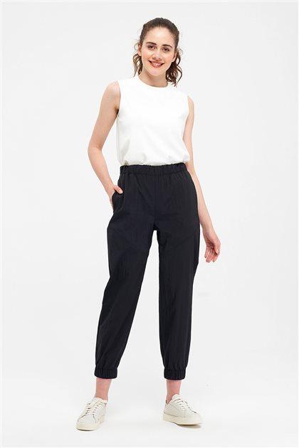 Lastik Paçalı Pantolon-Siyah 2656.PNT.493.1-01