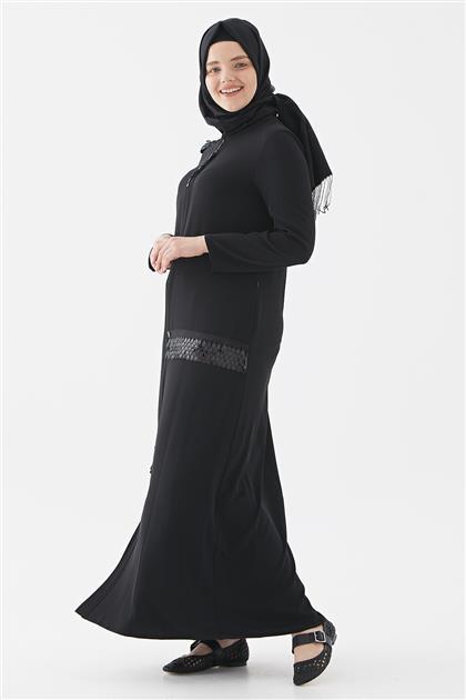 İnci Pardesü-Siyah 719YPRD70171-01