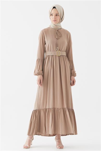 1017001-72 فستان-بني مينك