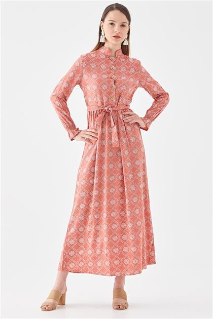 10220005-58 فستان-أحمر قرميدي