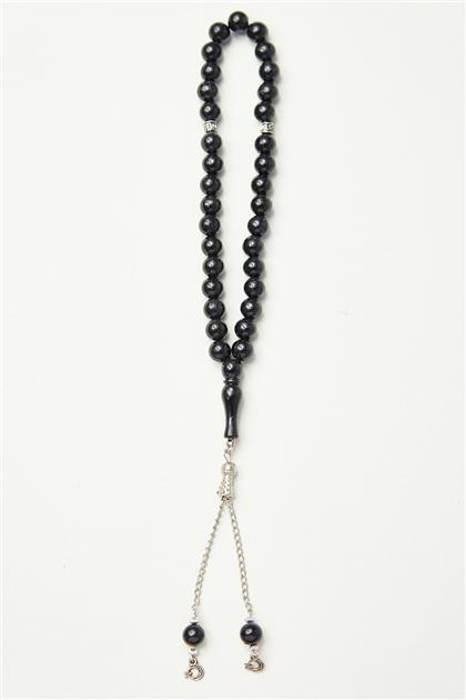 Akrilik Taş Tesbih-Siyah 0038-01