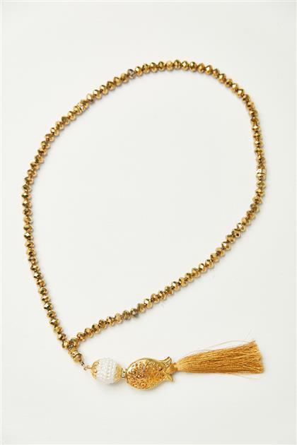 Lale Desen Tesbih-Gold 0026-93