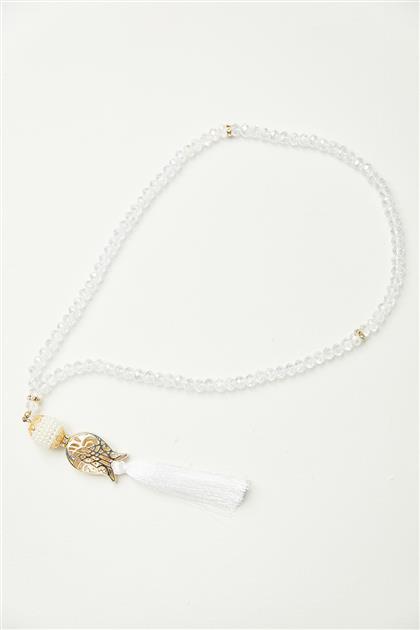 Lale Desen Tesbih-Beyaz 0026-02