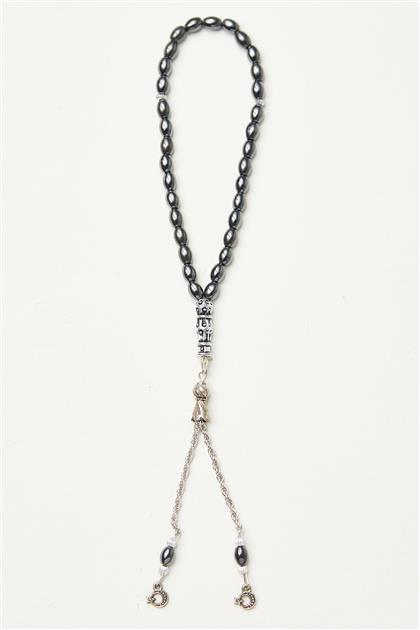 Hematit Taş Tesbih-Gümüş 0048-06