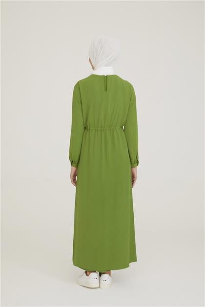 Armine İki Katlı Elbise 21Y9229 Koyu Yeşil