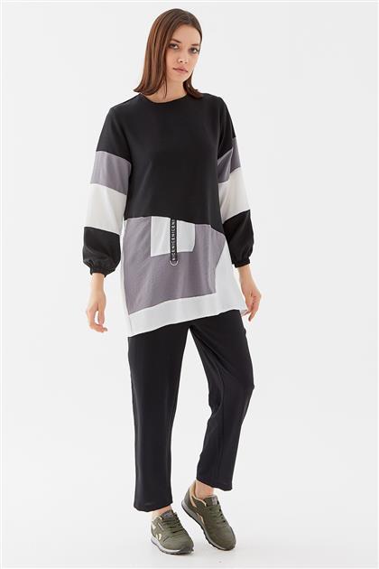 Tunic-Black-Gray 1210002-01-04