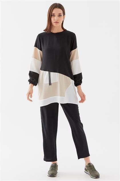 Renkli Tunik-Siyah-Taş 1210002-01-48
